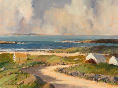 George K. Gillespie RUA (1924-1995) NEAR CASHEL ON GALWAY COAST, CONNEMARA oil on canvas signed