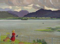 Harry Kernoff RHA (1900-1974) VIEW FROM THE LAKE HOTEL, KILLARNEY, COUNTY KERRY, 1943 oil on board