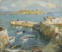 Terence John McCaw (South African, 1913-1978) DALKEY ISLAND FROM COLIEMORE HARBOUR, COUNTY DUBLIN