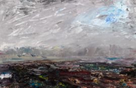 Jack Butler Yeats RHA (1871-1957) RIVER MOUTH, GLENBEIGH, COUNTY KERRY, 1930 oil on panel signed and