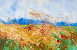 Kenneth Webb RWA FRSA RUA (b.1927) WINDSWEPT oil on canvas signed lower right 24 by 36in. (61 by