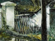 Donald Teskey RHA (b.1956) BROKEN GATE, NEAR MILLTOWN, DUBLIN oil on canvas laid on board signed