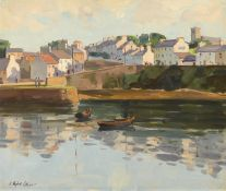 Robert Taylor Carson HRUA (1919-2008) ROUNDSTONE, COUNTY GALWAY oil on canvas signed lower left 20
