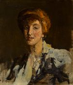Sir John Lavery RA RSA RHA (1856-1941) THE HON. MRS BURRELL, 1903 oil on canvas signed, dated and
