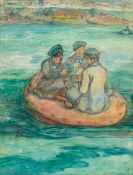 Jack Butler Yeats RHA (1871-1957) THE ENTHUSIASTS, 1902 watercolour 19 by 14.50in. (48.3 by 36.