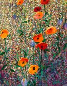 Kenneth Webb RWA FRSA RUA (b.1927) CALIFORNIAN POPPIES oil on canvas signed lower right; titled on