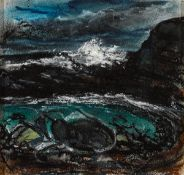 Peter Collis RHA (1929-2012) SEASCAPE mixed media with pastel on paper laid on board signed lower