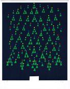 Patrick Scott HRHA (1921-2014) CHRISTMAS GREETING CARD, 1989 colour print; (no. 29 from an edition
