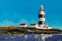 Ivan Sutton (b.1944) HOOK LIGHTHOUSE, COUNTY WEXFORD oil on canvas signed lower right; signed,
