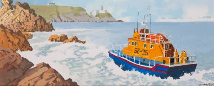 John Francis Skelton (b.1954) SEA PATROL, HOWTH HEAD, DUBLIN oil on canvas signed lower right;