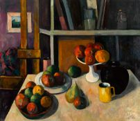 Peter Collis RHA (1929-2012) STUDIO AND STILL LIFE oil on canvas signed lower right; with John