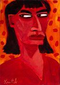 Graham Knuttel (b.1954) SHARP GLANCE oil on canvas; (unframed) signed lower left 13.75 by 10in. (