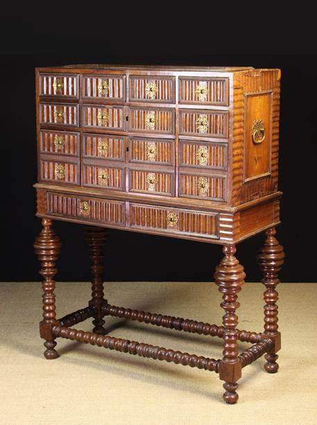 Lot 548 - A 17th Century Portuguese Collector's Cabinet on Stand.