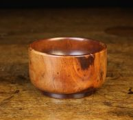 A Beautifully Patinated 18th Century Lignum Vitae Master Salt, with straight sides and a flat base,