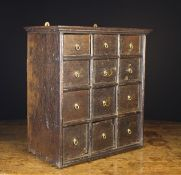 An 18th Century Oak Cabinet of Drawers,