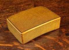 A Boxwood Snuff Box of curved rectangular form.