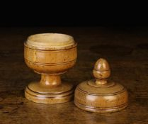 A Late 17th/Early 18th Century Pole-Lathe Turned Sycamore Spice or Tobacco Jar,