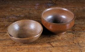 An 18th Century Sycamore Pole-Lathe Turned Drinking Bowl, with ogee sides,