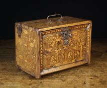 A 17th Century Marquetry Table Cabinet with enclosed drawers.
