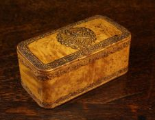 A 19th Century French Carved Burr Maple Snuff Box.