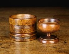 An Oak Straight-sided Cylindrical Salt, Circa 1800,