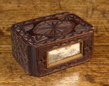 A Small 18th Century Swedish Chip-carved Treen Box/Love Token.