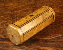 A Fine 19th Century Burr Yew-wood Snuff Box.