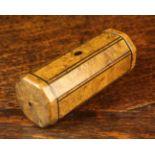 A Fine 19th Century Burr Yew-wood Snuff Box.