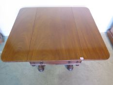 A 19th century mahogany drop leaf Pembroke table with one active drawer, 72cm tall x 103cm x