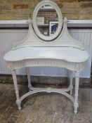 A painted continental dressing table, 133cm tall x 103cm wide x 50cm deep