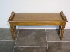 An oak window seat, made by a local craftsman to a high standard, 52cm tall x 103cm x 33cm