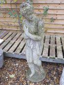 A stone effect garden statue, 115cm tall