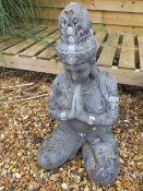 A seated buddha figure, 62cm tall
