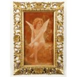 A 19th Century Florentine giltwood frame With shell, acanthus leaf and pierced foliate decoration