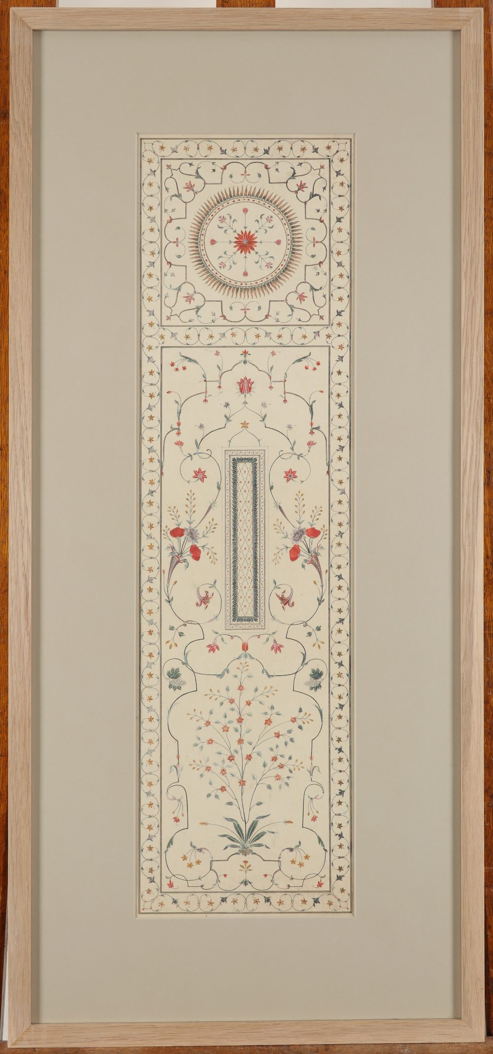 Company School c.1820 Two copies of the pietra dura work from the cenotaph, Taj Mahal, Agra A - Image 3 of 6