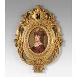 Henry Pierce Bone (1779-1855) Portrait miniature of William II, Prince of Orange (1626-1650), as a