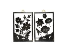 A SET OF FOUR SMALL CHINESE 'FOUR SEASONS' IRON PICTURES, TIEHUA LATE QING DYNASTY/REPUBLIC PERIOD