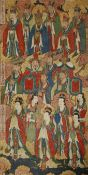 ANONYMOUS (20TH CENTURY) DAOIST IMMORTALS A Chinese painting, ink and colour on paper, inscribed,