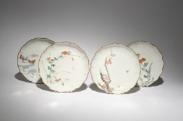 FOUR JAPANESE MOULDED DISHES EDO PERIOD, 18TH CENTURY Each of lobed form, the cavetto moulded with