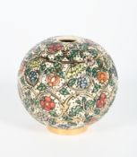 'Elizabethan Embroidery' a Dennis China Works limited edition Sphere vase designed by Sally