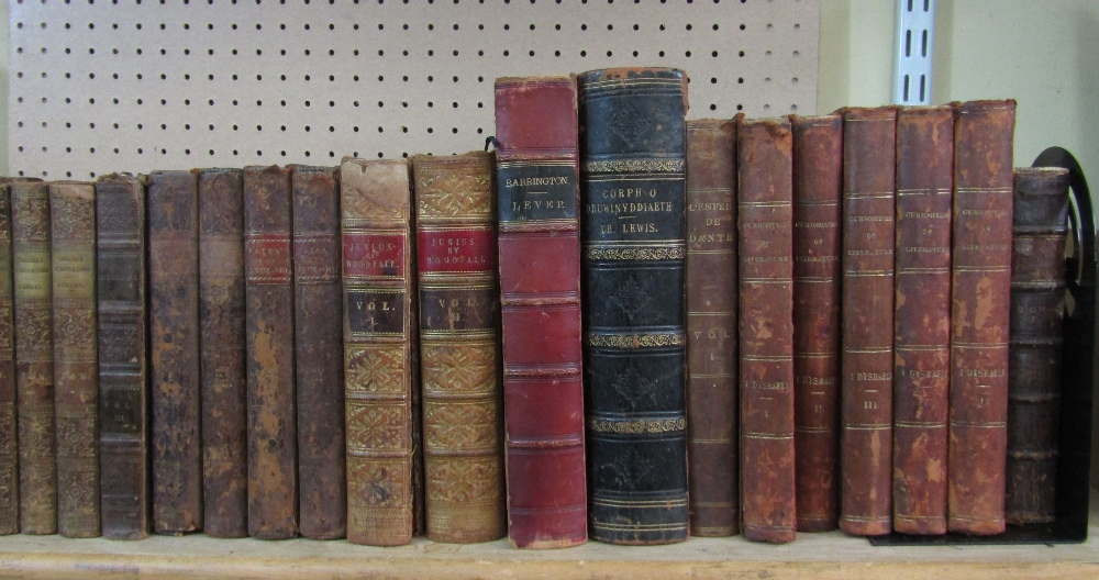 Lot 810 - A collection of antiquarian books including five volumes of Channing's works (31)