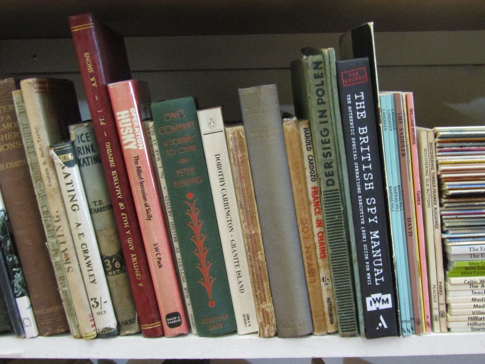 Lot 784 - A mixed collection of books of various subjects including sailing, travel, espionage, etc together