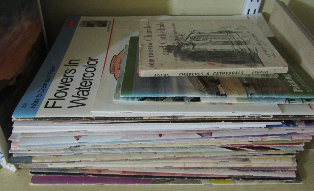 Lot 804 - An extensive collection of good quality technical books about watercolour and other types of