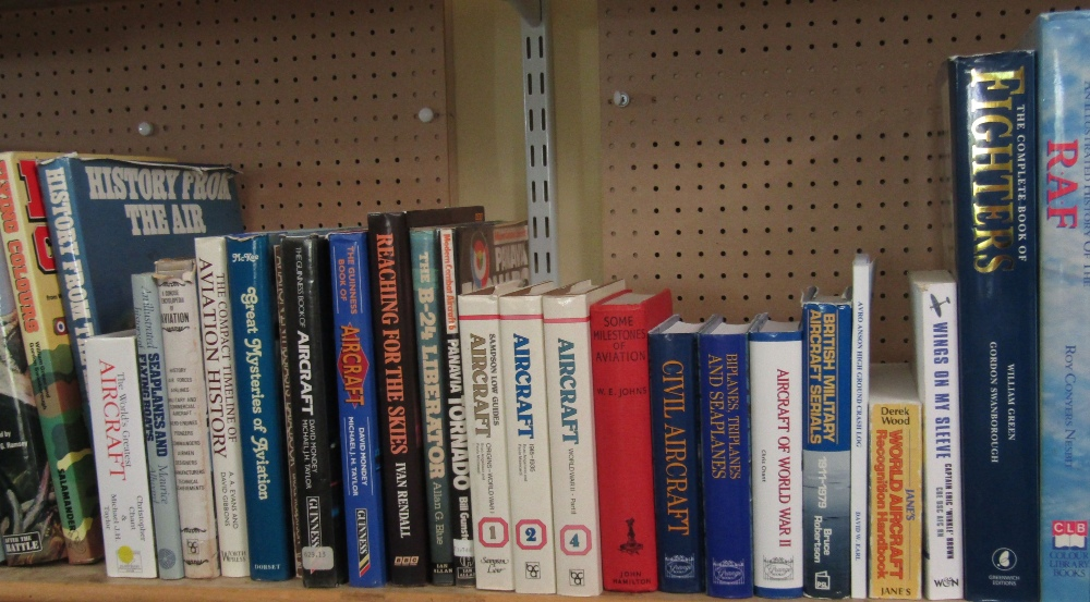 Lot 811 - An extensive collection of good quality reference books about both military and civil aviation,