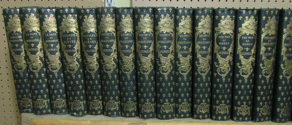 Lot 809 - The Works of Alexandre Dumas, published by J M Dent & Co, 1894, with green covers and ornate gilt