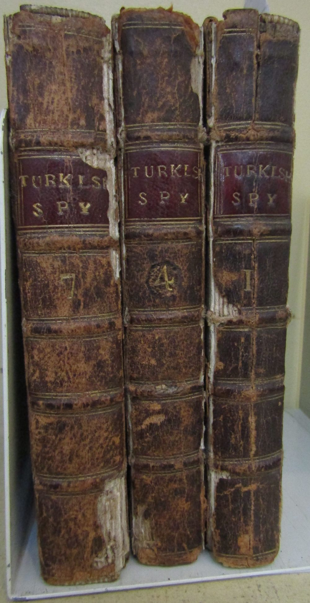 Lot 790 - Three small 17th century volumes of Letter Writ by a Turkish Spy, printed for Henry Rhodes, 1692-