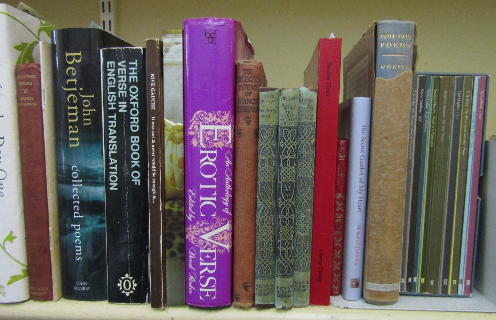 Lot 789 - A quantity of miscellaneous mainly contemporary poetry books including a number of First Editions (