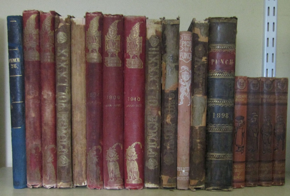 Lot 801 - A collection of various bound editions of Punch and Punch Library of Humour (17)