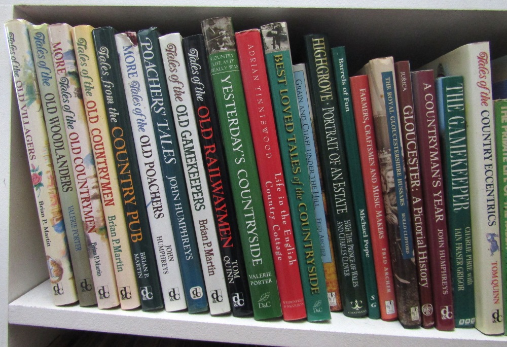 Lot 822 - An extensive collection of books about the countryside and related subjects, including a large