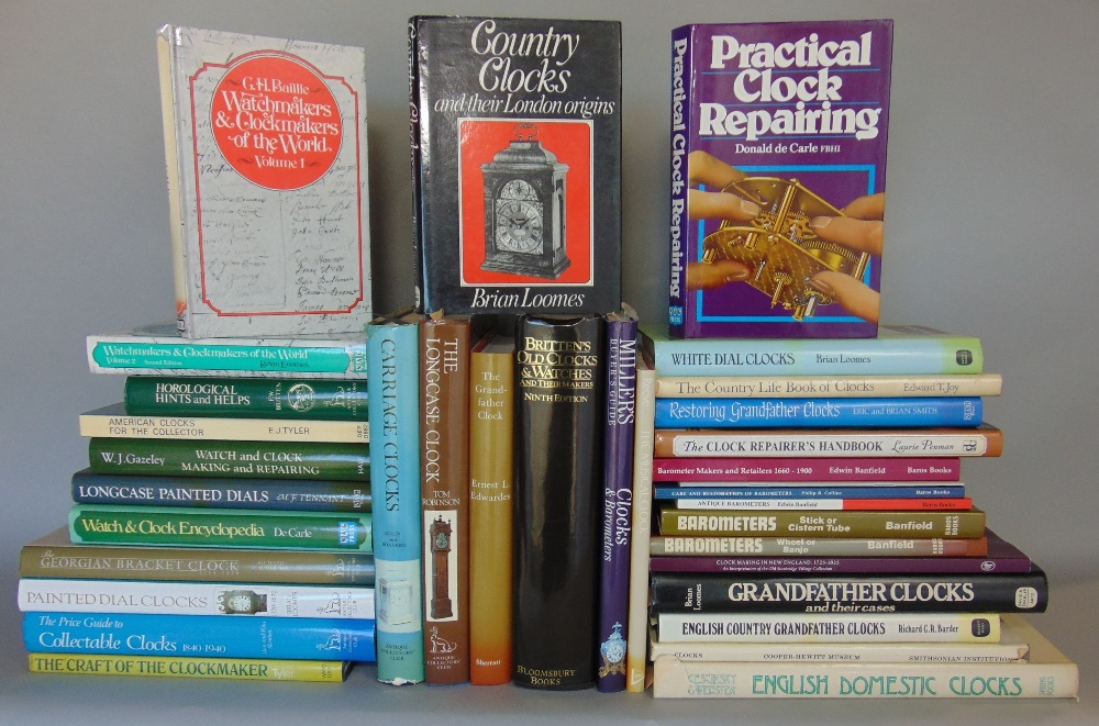 Lot 399 - A large collection of various clock, watch and barometer reference books